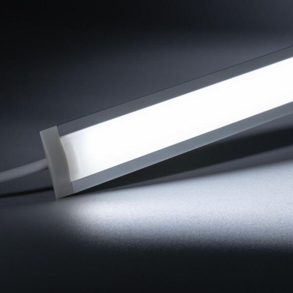 24V Aluminium Einbau LED Leiste schmal – weiß – diffuse Abdeckung