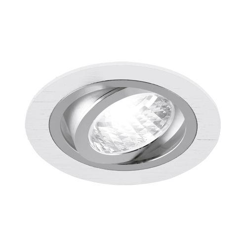 LED-Einbauleuchte - weiß/ chrom - 9,2 cm - rund