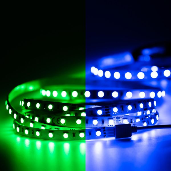 24V LED Streifen – RGB – 70 LEDs je Meter – alle 10cm teilbar - 500cm