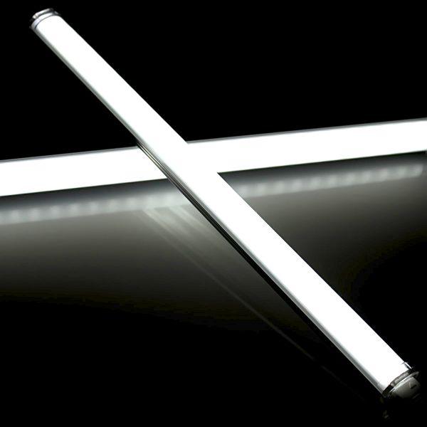Aluminium LED Lichtleiste steckbar - 56 LEDs auf 30cm 24V weiß