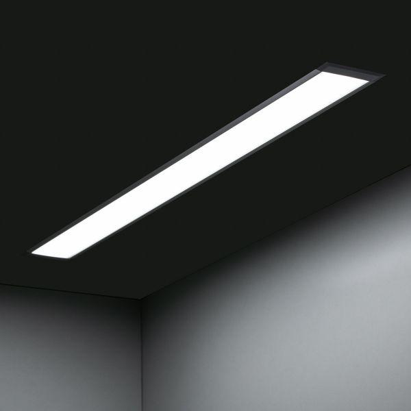 24V Aluminium LED Einbauleuchte – weiß – linear – diffuse Abdeckung