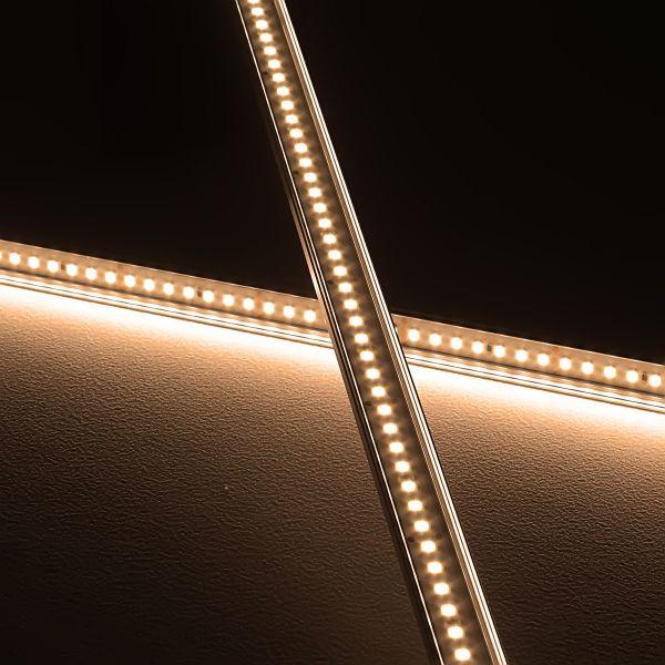 24V Slim-Line Aluminium LED Leiste – warmweiß – transparente Abdeckung