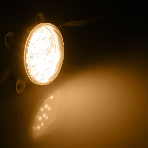 wasserfestes LED Modul mit 14 x 2835 LEDs rund - warmweiss 24V 120°