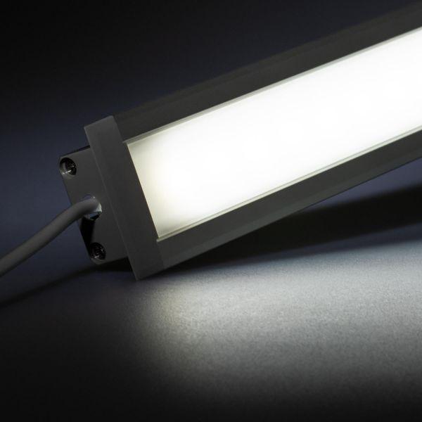 12V Aluminium Einbau LED Leiste – weiß – diffuse Abdeckung