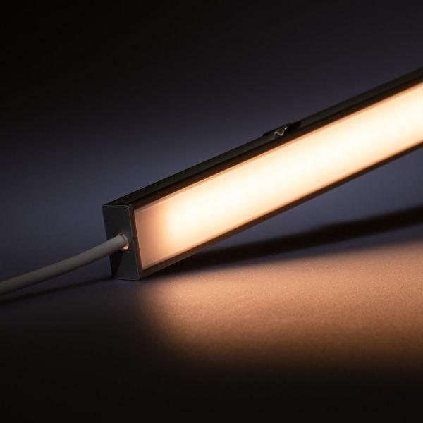 24V spritzwassergeschütze Aluminium LED Leiste – warmweiß – diffuse Abdeckung - IP54
