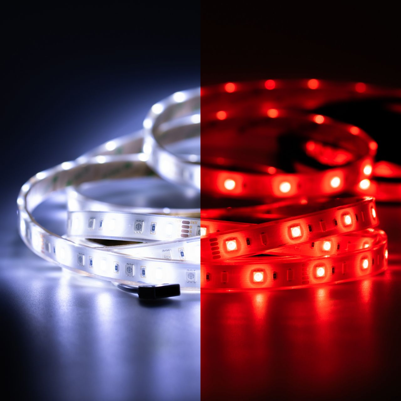 24V wasserfester LED Streifen – RGBW – 500cm – IP67