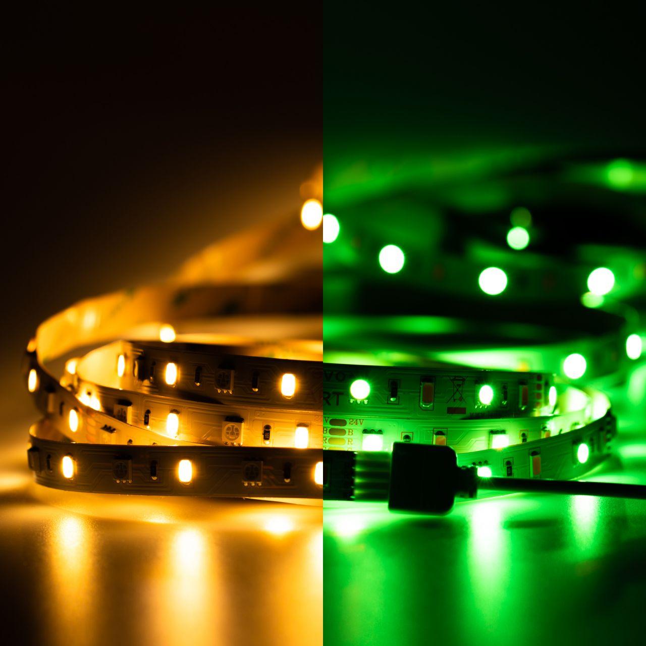 24V LED Streifen – RGBWW – 60 LEDs je Meter – alle 16,7cm teilbar