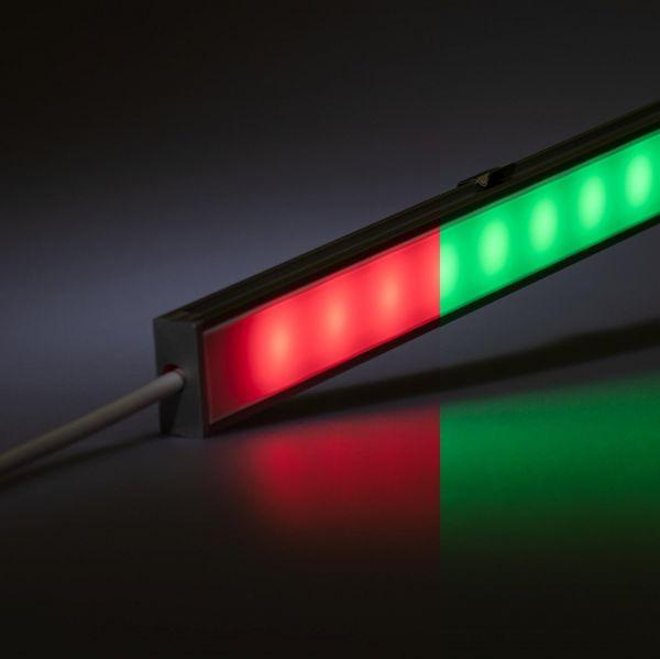 12V spritzwassergeschütze Aluminium LED Leiste – RGB – diffuse Abdeckung - IP54