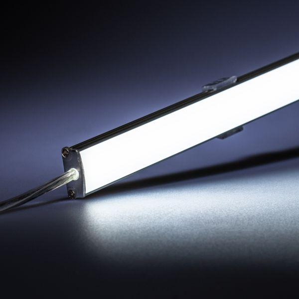 12V wasserfeste Aluminium LED Leiste – weiß – 50cm– diffuse Abdeckung – IP65