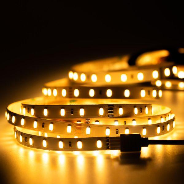 24V High-Power LED Streifen – warmweiß – 70 LEDs je Meter – alle 10cm teilbar