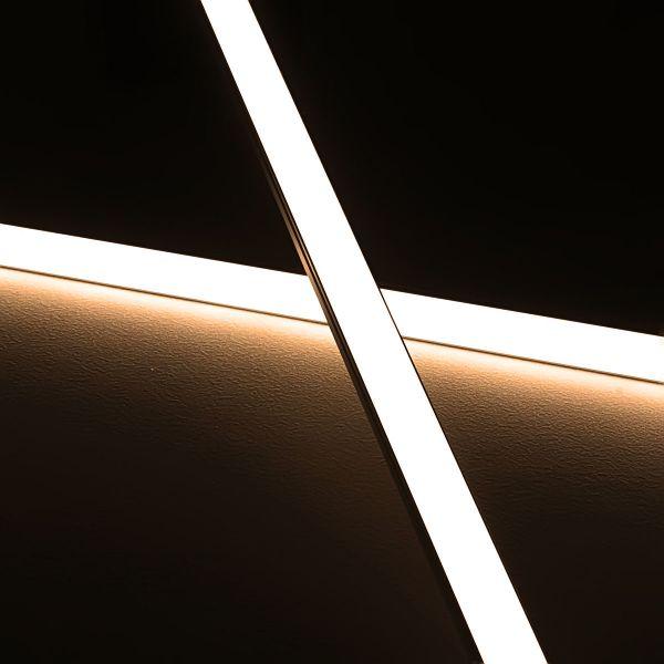 Slim-Line Aluminium LED-Leiste ab 33cm mit 42 LEDs bis 198cm mit 273 LEDs - Abdeckung diffus - 24V -