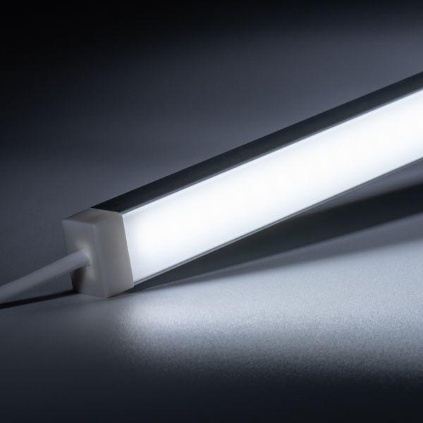 24V wasserfeste Aluminium LED Leiste - weiß - diffuse Abdeckung - IP65