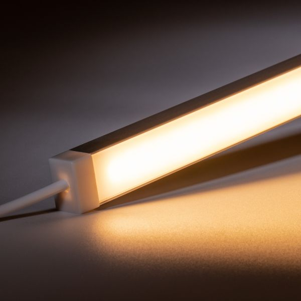 24V wasserfeste Aluminium LED Leiste - warmweiß - diffuse Abdeckung - IP65