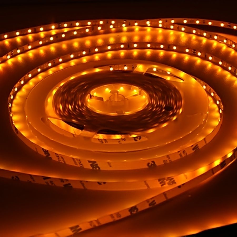 12V LED Streifen – gelb-orange – 60 LEDs je Meter – alle 5cm teilbar