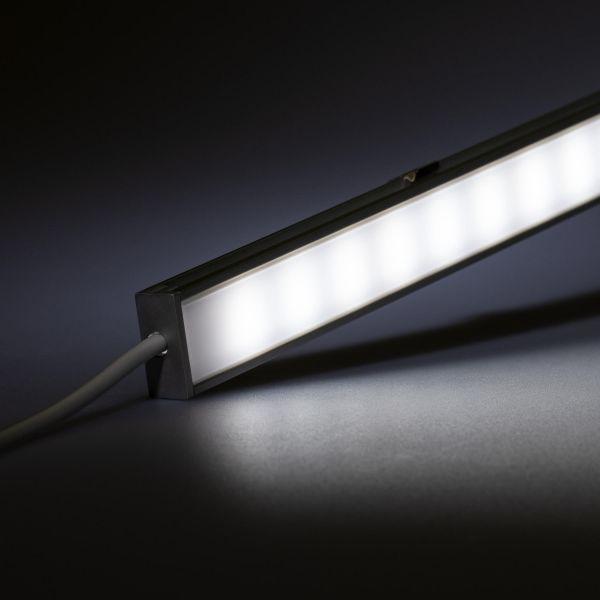 12V spritzwassergeschütze Aluminium LED Leiste – weiß – diffuse Abdeckung - IP54