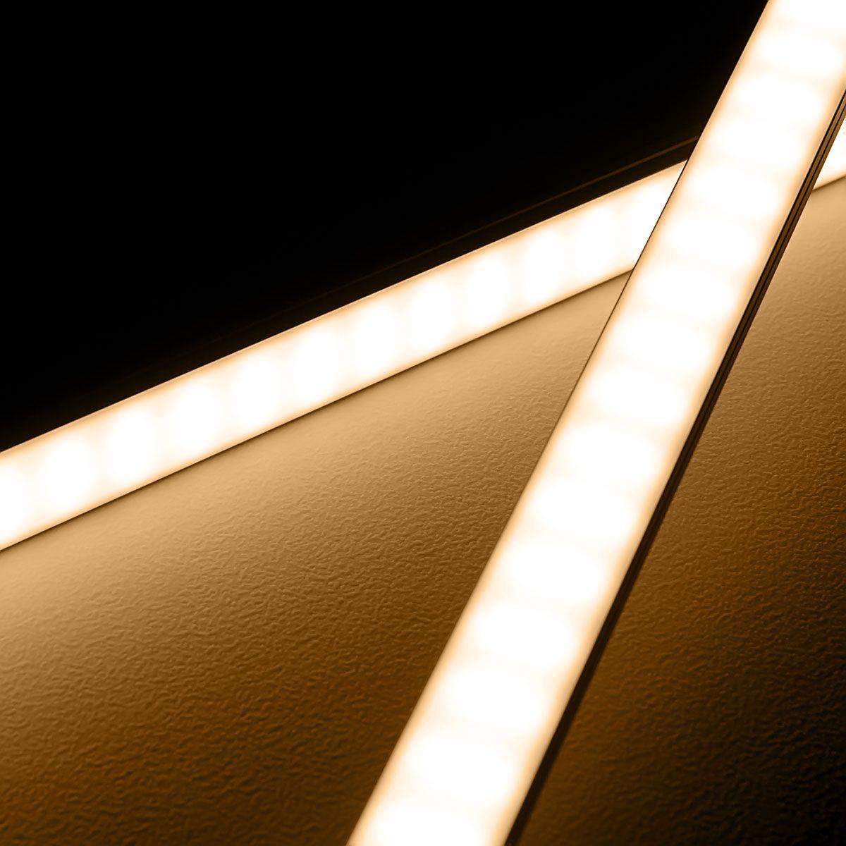 24V High-Power Aluminium LED Leiste – warmweiß – diffuse Abdeckung