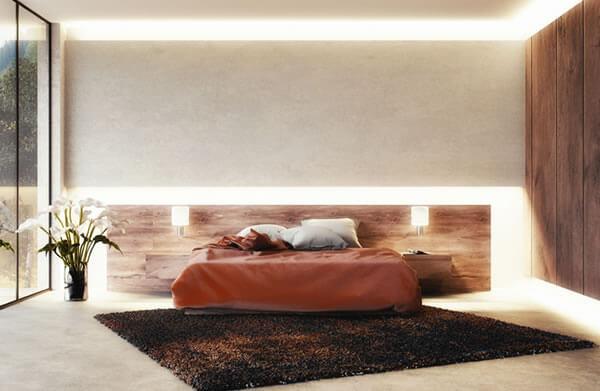 Indirekte Beleuchtung Schlafzimmer an Wand & Decke mit LED