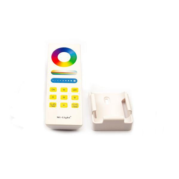 Funk LED Controller – 4 Kanal – RGBW – mit Touch-Fernbedienung und Wandhalterung