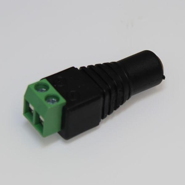 DC-Hohlbuchse mit Schraubanschluss 2polig für Netzteile mit 5.5/2.5 DC-Hohlstecker