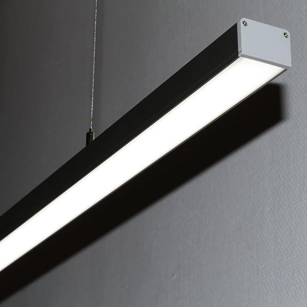 lineare LED-Pendelleuchte opal 24V DC weiss 6000k - ab 34cm 9Watt bis 203cm 60Watt