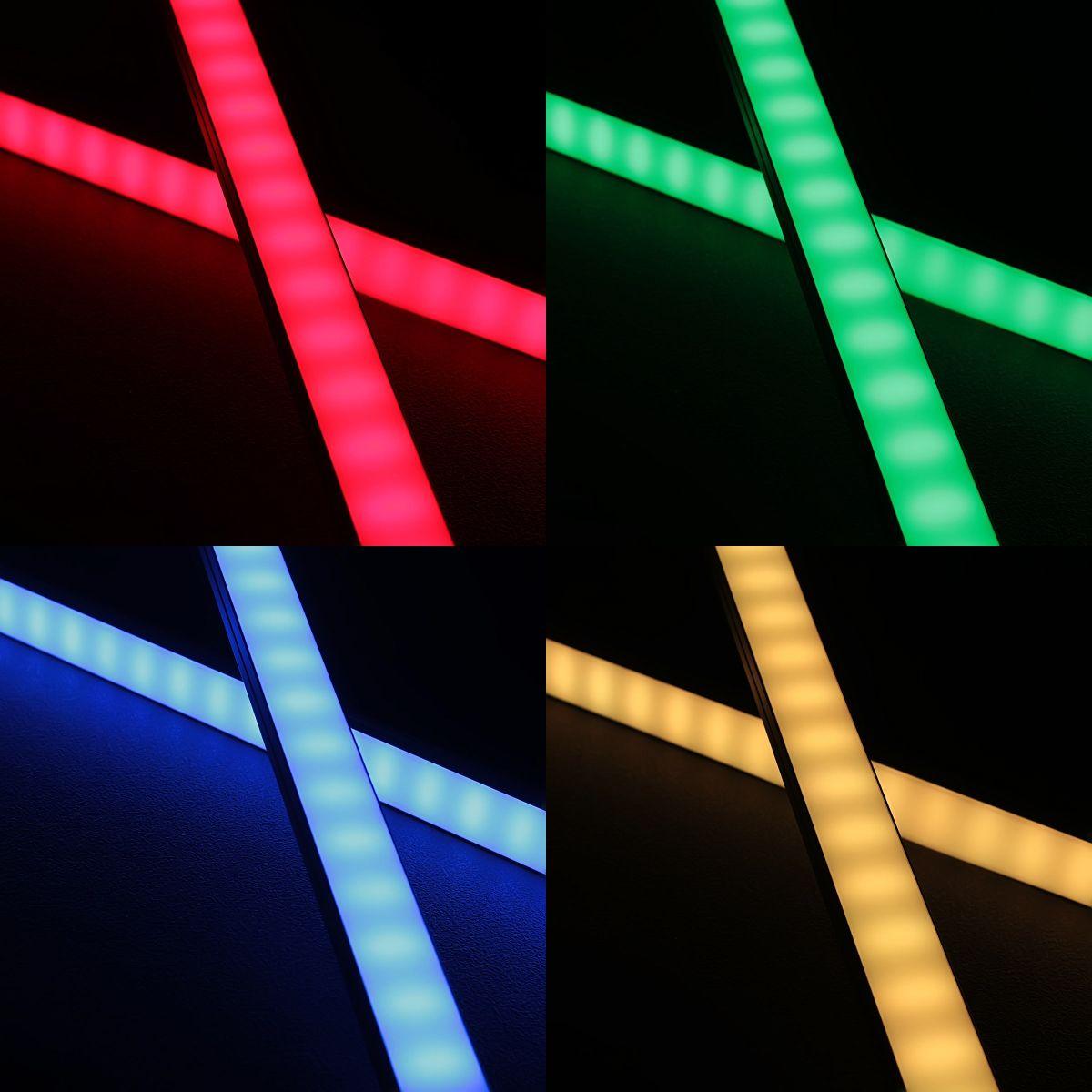 24V Slim-Line Aluminium TWIN LED Leiste – RGB – diffuse Abdeckung