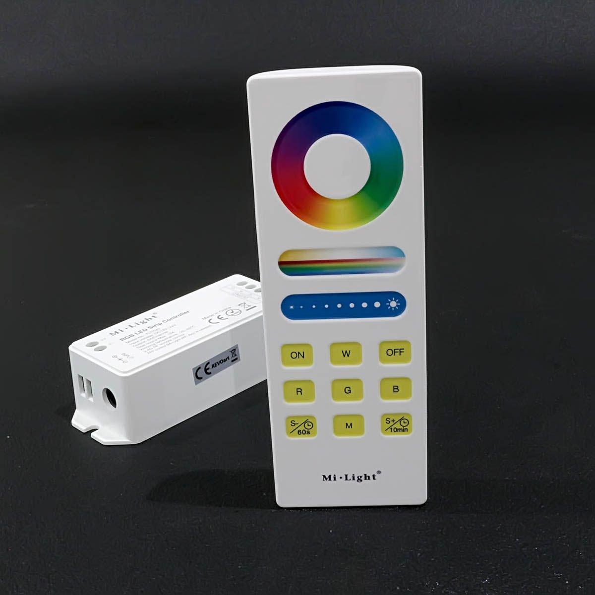 Funk LED Controller – 3 Kanal – RGB – mit Touch-Fernbedienung und Wandhalterung