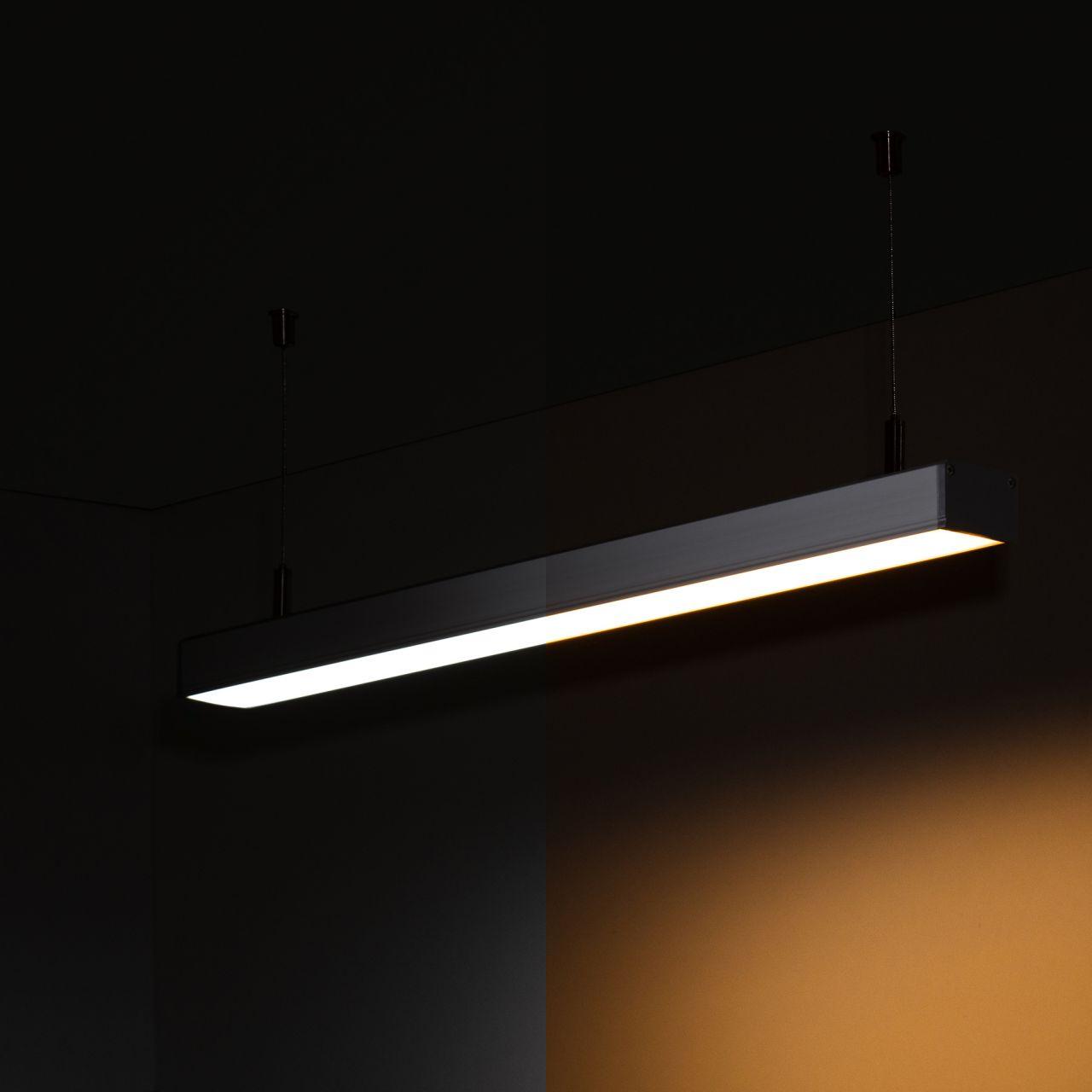 24V Aluminium LED Pendelleuchte – Farbtemperatur einstellbar – linear – diffuse Abdeckung