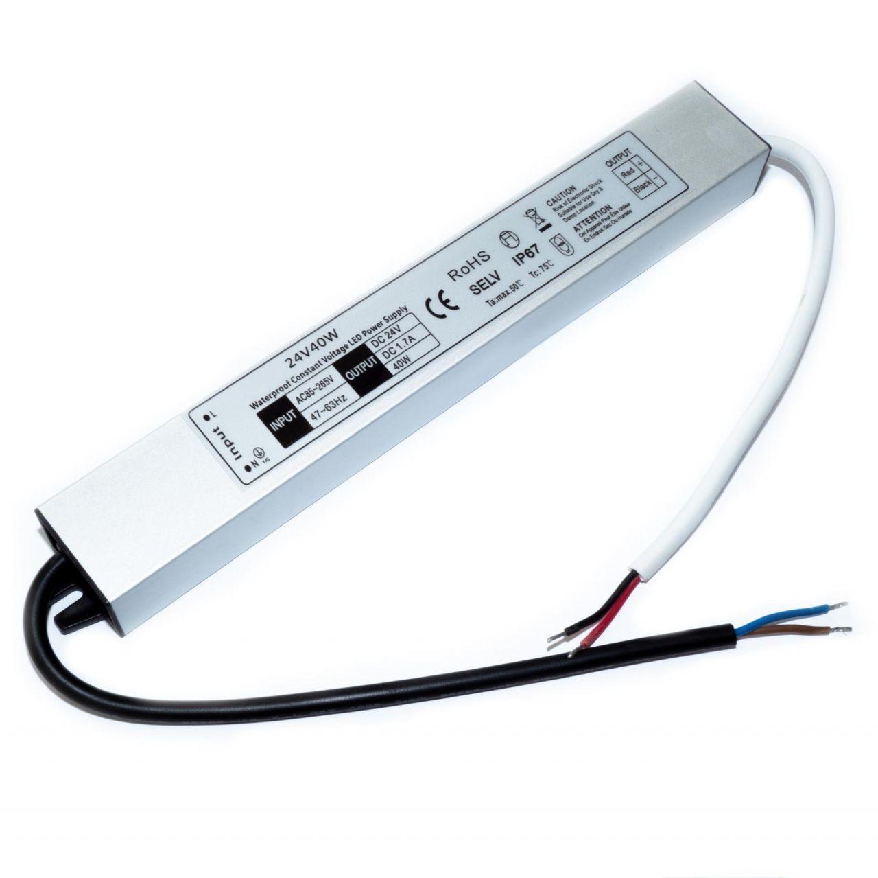 24V DC – wasserfestes Netzteil stabilisiert – 1,67A – 40Watt – IP67