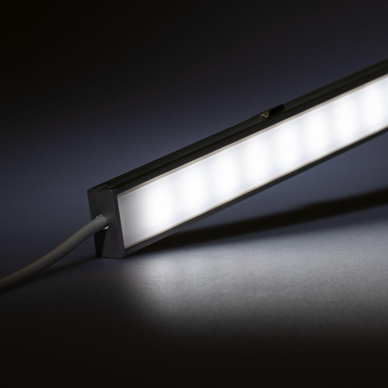 12V Aluminium LED Leiste mit wasserfester Abdeckung– weiß – diffuse Abdeckung - IP65