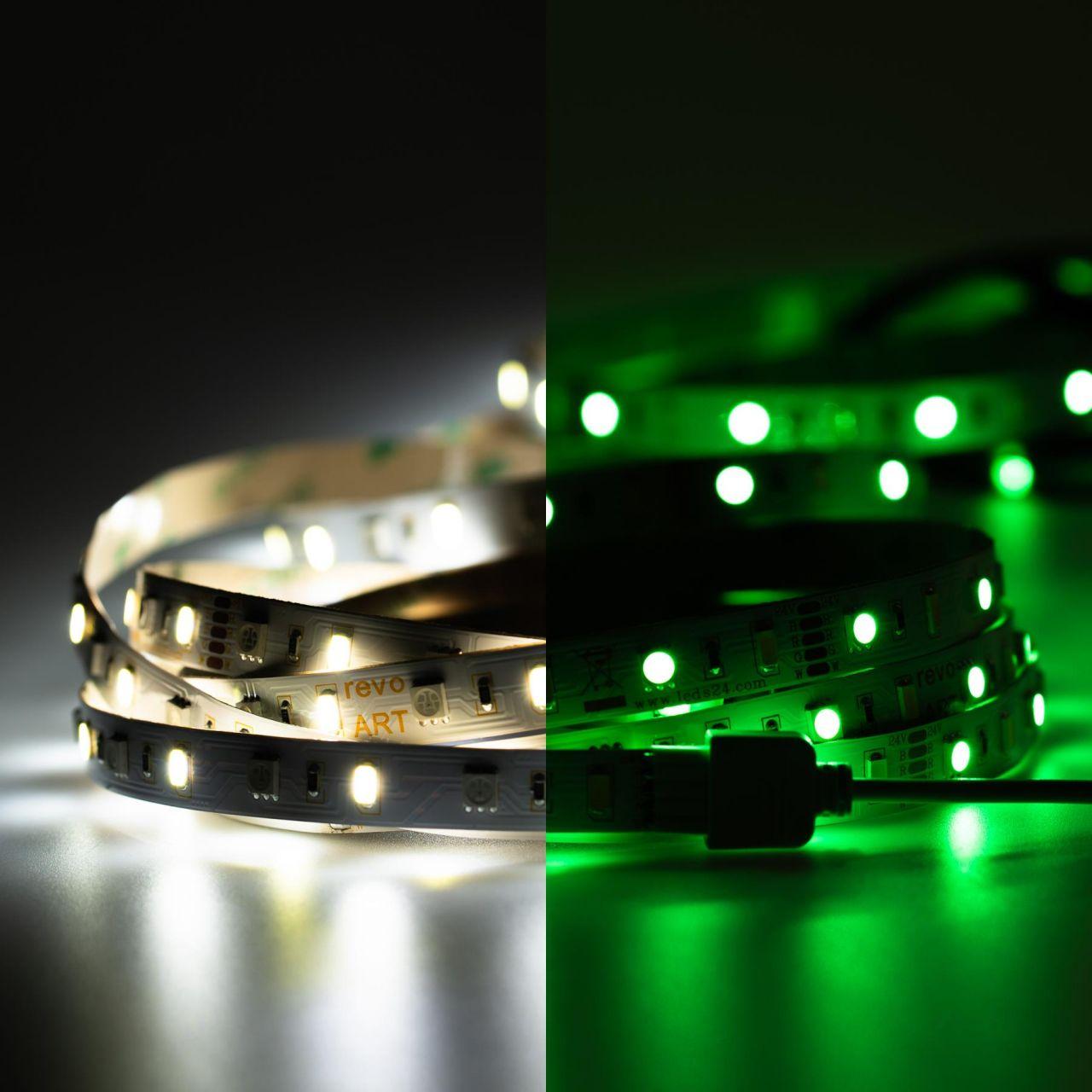 24V LED Streifen – RGBW – 60 LEDs je Meter – alle 16,7cm teilbar