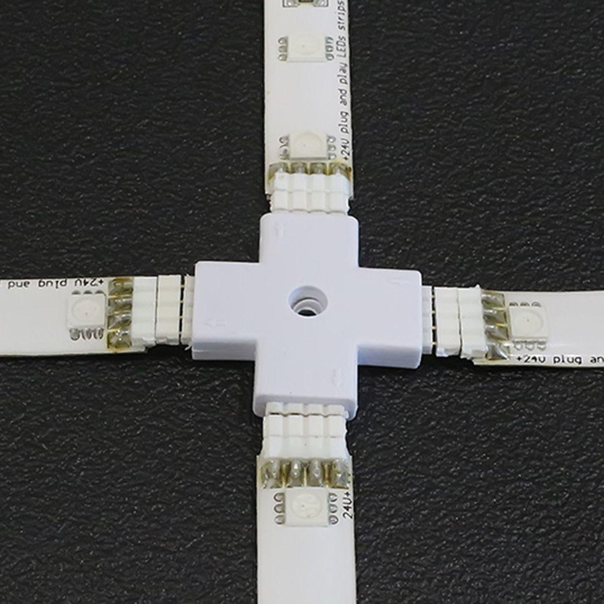 Quick-System 4polig 2.54 – Kreuzverbinder 4x4polig – weiß