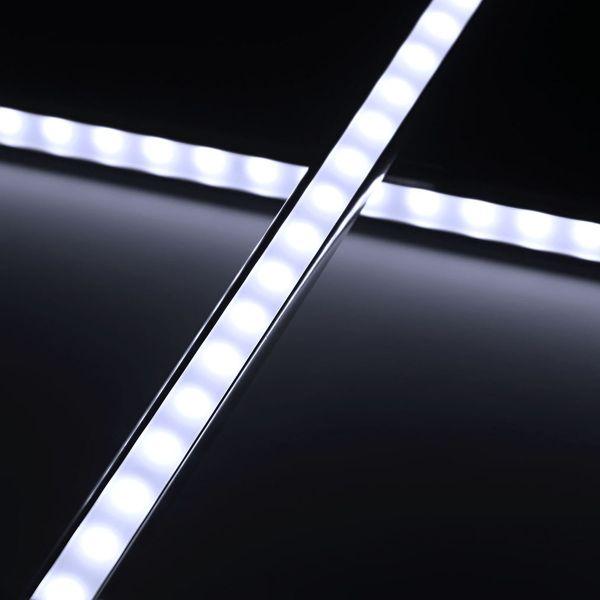 Aluminium-LED-Lichtleiste diffus tageslichtweiß 24V - ab 22cm 14x 5630 High-Power-LEDs bis 202cm mit