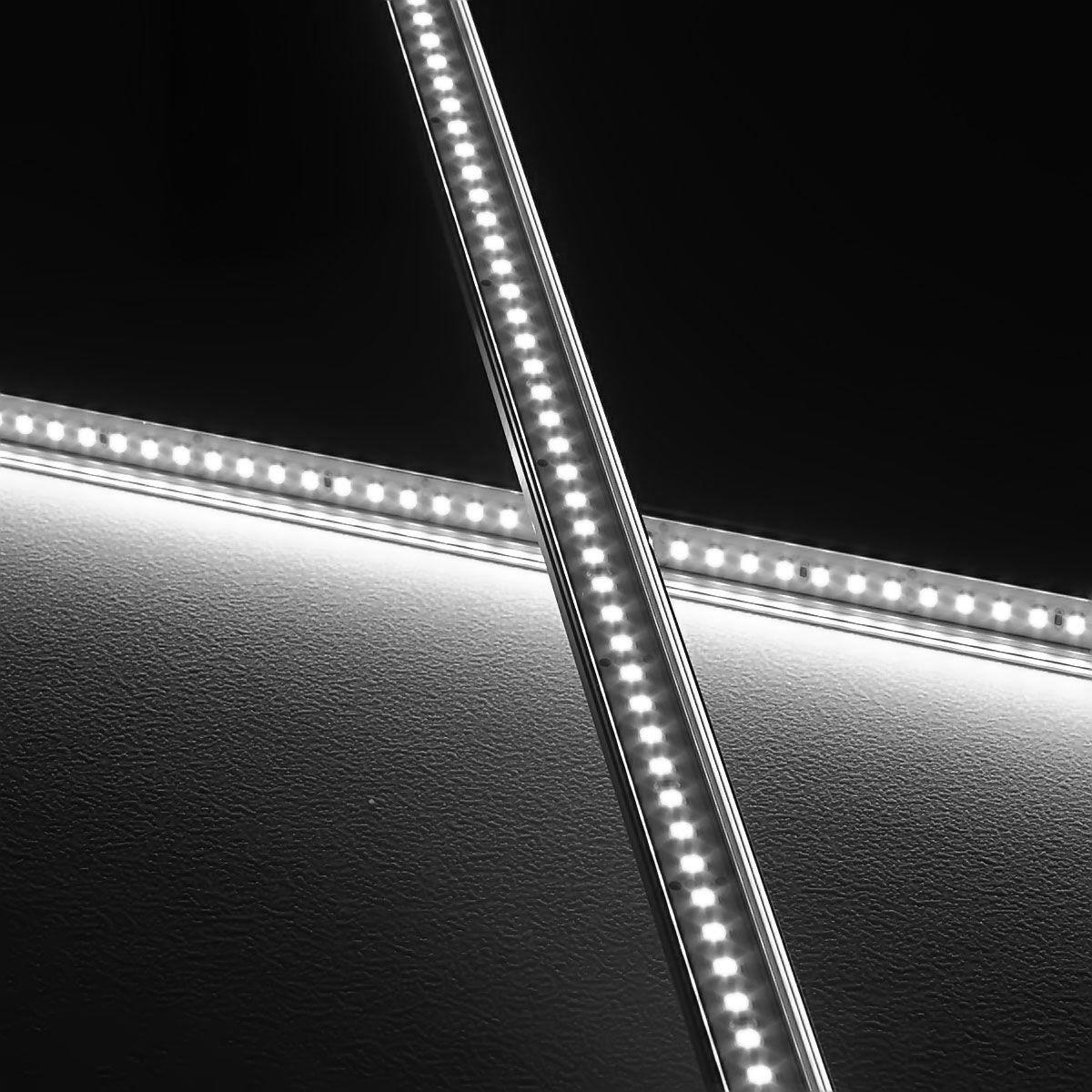 24V Slim-Line Aluminium LED Leiste – weiß – transparente Abdeckung