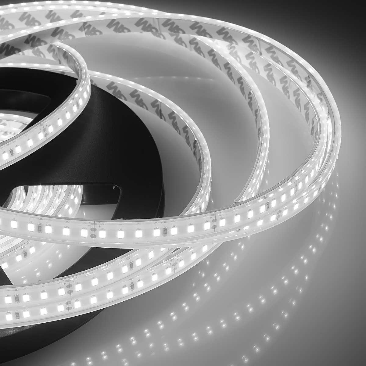 LED Lichtband Strip Streifen 10 Meter warmweiß für Außen Badezimmer IP67 24 Volt