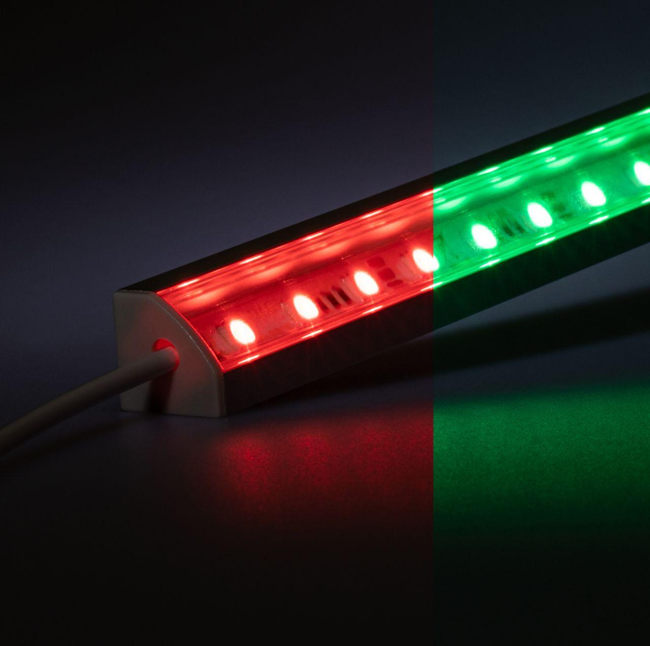 12V Aluminium LED Eckleiste – RGB – transparente Abdeckung