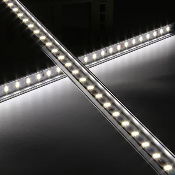 Slim-Line Alu LED-Leiste ab 33cm mit 18x 5630 LEDs 120° - Abdeckung klar - 12V - weiß