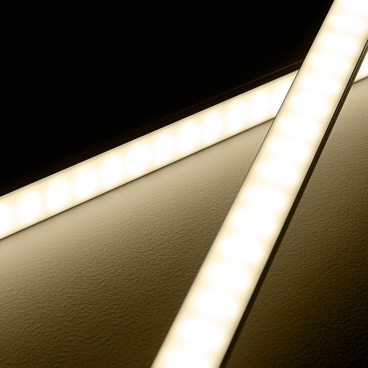 24V High-Power Aluminium LED Leiste – tageslichtweiß – diffuse Abdeckung