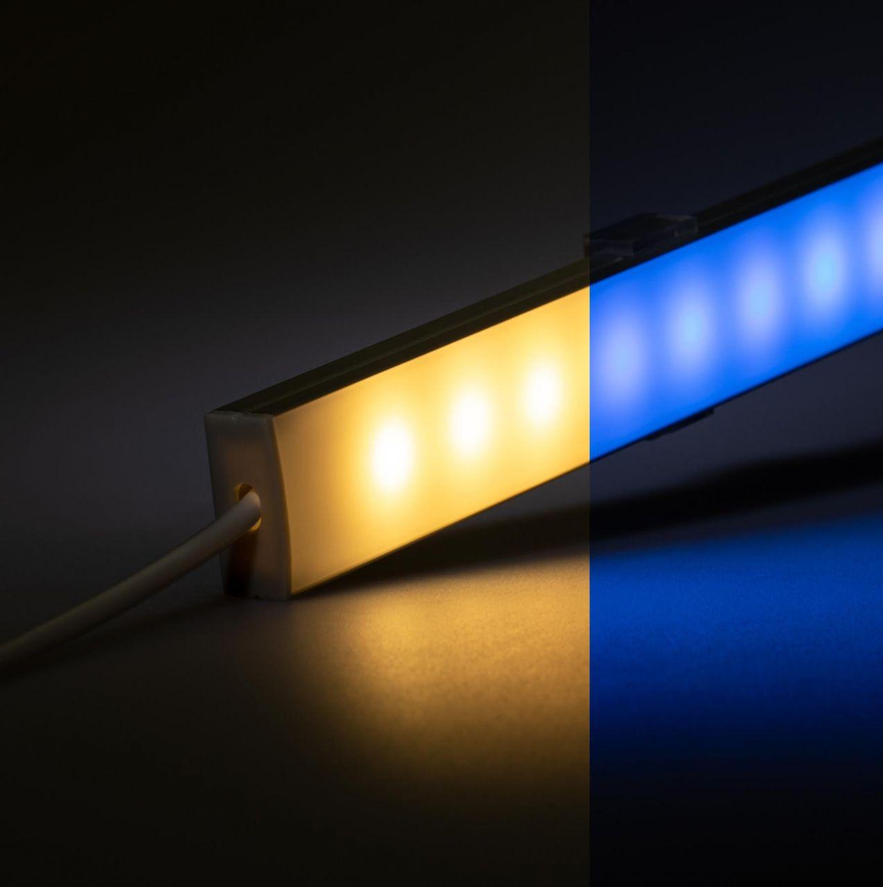 12V Slim Line Aluminium LED Leiste – RGBW ( RGB & warmweiß ) – diffuse Abdeckung