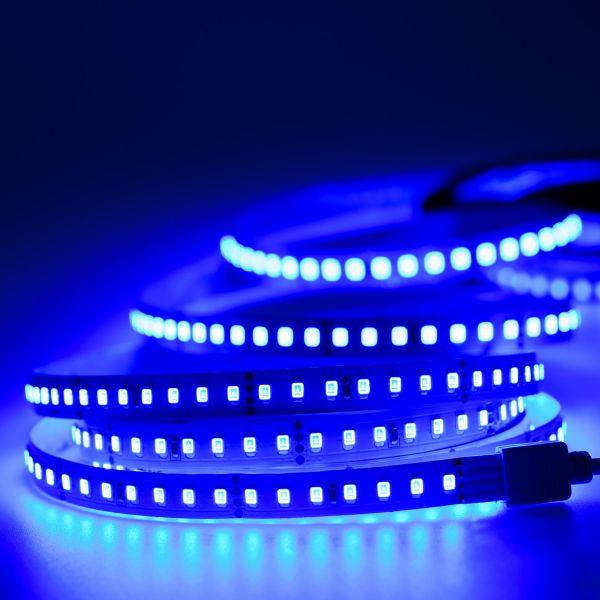 24V LED Streifen – blau – 140 LEDs je Meter – alle 5cm teilbar
