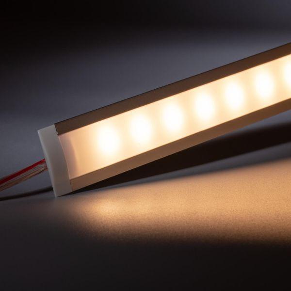 12V Aluminium Einbau LED Leiste schmal – warmweiß – diffuse Abdeckung