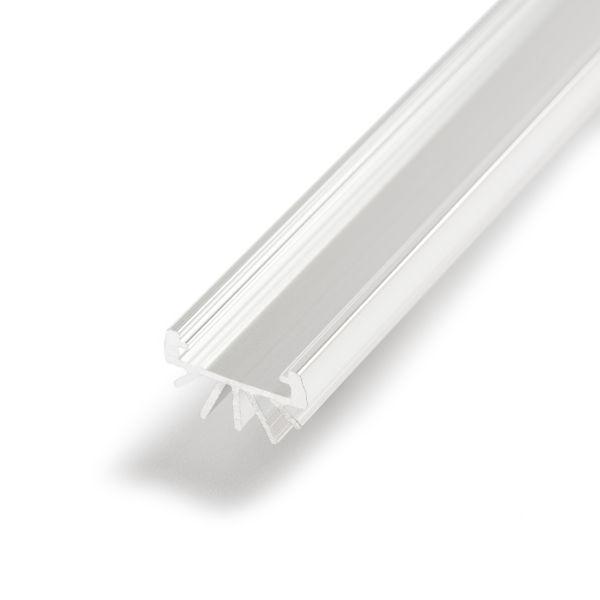 Aluminium LED Rund Profil, ohne Abdeckung, 1,6 x 100cm