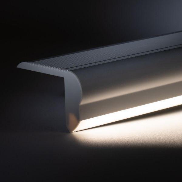 24V Aluminium Treppenstufen LED Leiste - tageslichtweiß - diffuse Abdeckung