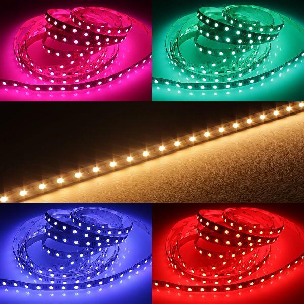 LED-Lichtband - RGB & warmweiss - je 5cm 3x RGBWW LEDs - 12V (ab 25,00Euro/m)
