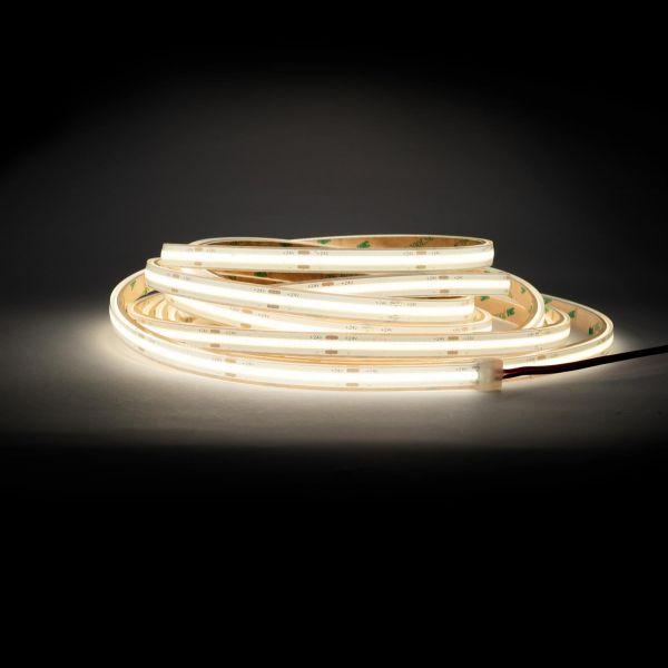 24V wasserfester COB LED Streifen - tageslichtweiß - 500cm - IP67