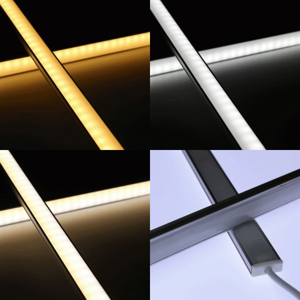 Slim-Line Alu LED-Lichtleiste ab 27,5cm mit 56 LEDs - Abdeckung diffus - 24V - Farbtemperatur einste