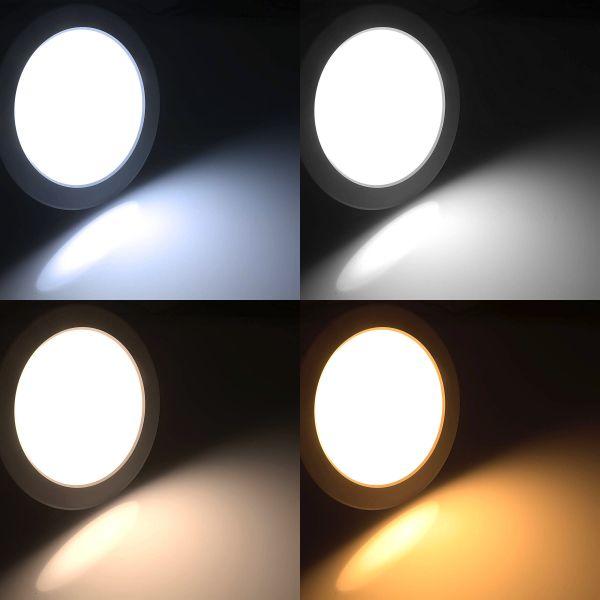 24V LED Einbauleuchte – CCT – 17,5cm – rund – Farbtemperatur einstellbar