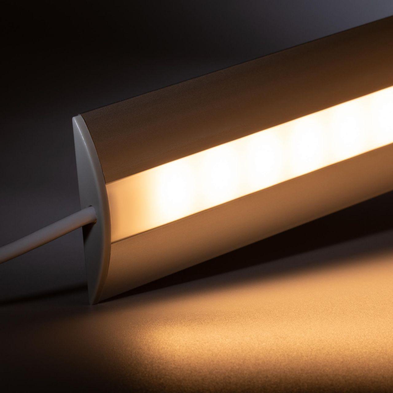 12V Aluminium Türschwellen LED Leiste - warmweiß - diffuse Abdeckung