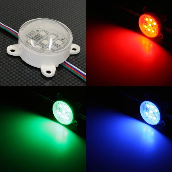 24V wasserfestes LED Modul – RGB – rund – transparente Abdeckung – IP65